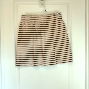 Cream and Navy J.Crew Skirt